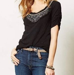 Anthropology Deletta beaded top